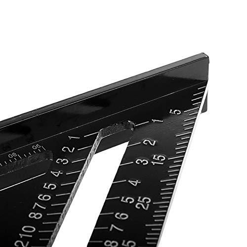 7 inch Rafter Square Metrisches Dreieck Lineal Anschlagwinkeldreieck Aluminium Legierung Dreieck Winkelmesser Mess-Werkzeug f/ür Ingenieur Carpenter