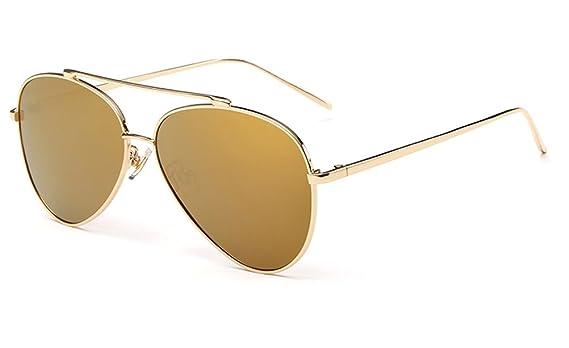 GAMT Unisex Classic Style Mirrored Aviator Sunglasses Metal ...