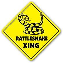 RATTLESNAKE CROSSING Sticker xing gift novelty rattle boots skin shoot hunt