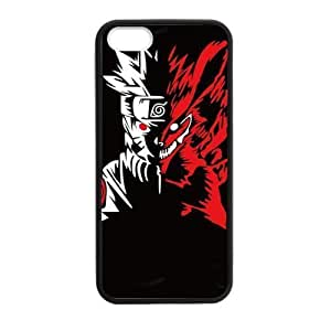 The Fox Red Ferocious Japanese Blood Cartoon Naruto Iphone 5s Case Cover Shell (Laser Technology)