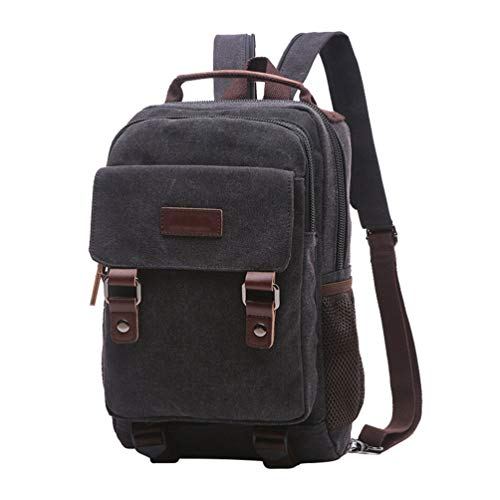 Laptop Chenyang Canvas Backpack College Unisex Black School Rucksack Bags Vintage Casual Hiking Daypack Travel YEXxEqra