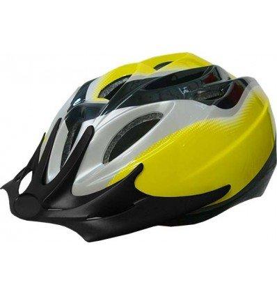 Dobar Supreme Cycling Bike Helmet - Youth & Adult Sizes (Black/Yellow, Medium)