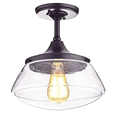 CLAXY Ecopower Vintage Metal & Glass Ceiling Light
