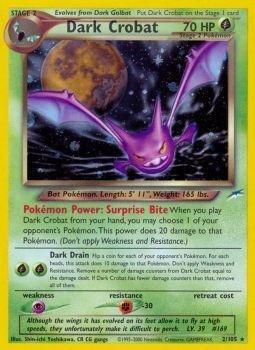 Pokemon - Dark Crobat (2) - Neo Destiny - Holo ()