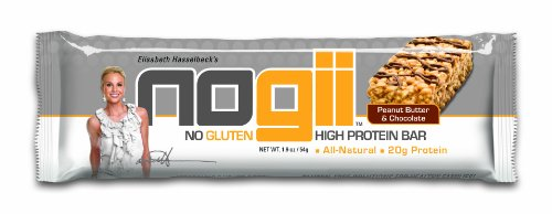 Nogii High Protein Bar, No Gluten, Peanut Butter and Chocolate, 12 - 1.93oz Bars per Pack