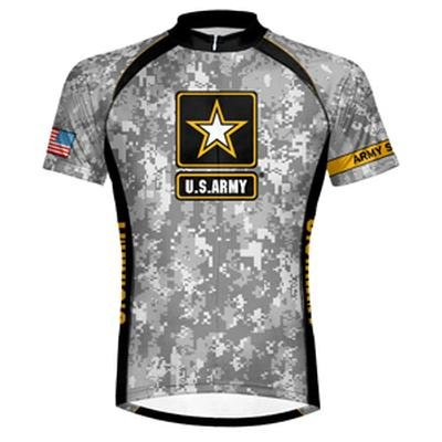 Image Unavailable. Image not available for. Color  US Army - Camo Cycling  Jersey ... 38925a892