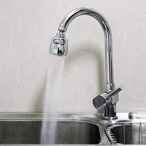 Faucet Accessories 360回転可能な湾曲した節水蛇口エアレーターディフューザ蛇口ノズルフィルター水ロータ台所蛇口アダプタバブラー KYENUI (Color : White)