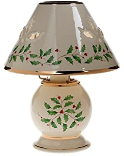 Amazon lenox holiday gold banded tea light lamps set of 2 tea lenox holiday candle lamp aloadofball Gallery