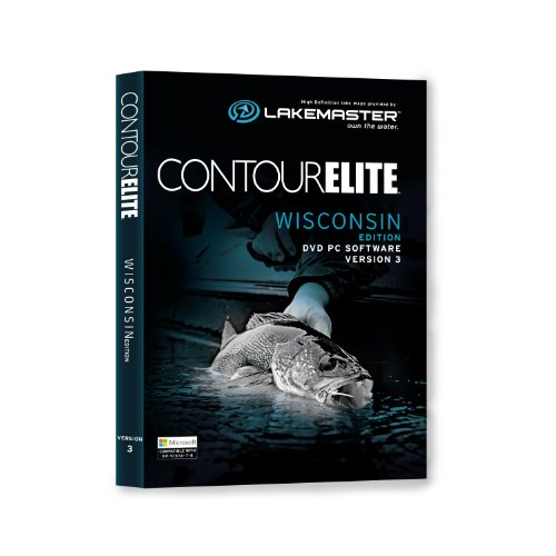 Lakemaster 6000261  Contour Elite Mapping Software - Wisconsin by LAKEMASTER