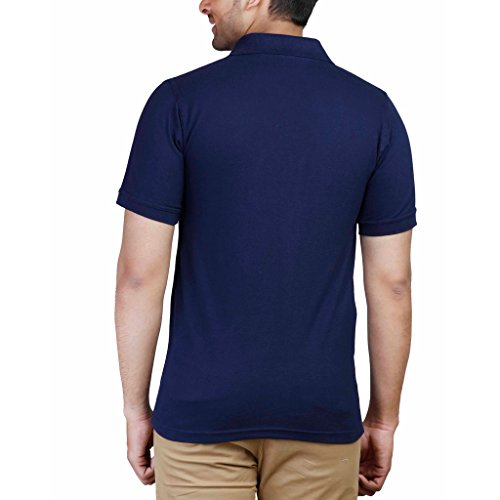 FLEXIMAA Men s Cotton Polo Collar T-Shirt Navy Blue Color  Amazon.in   Clothing   Accessories 4b349a19b97
