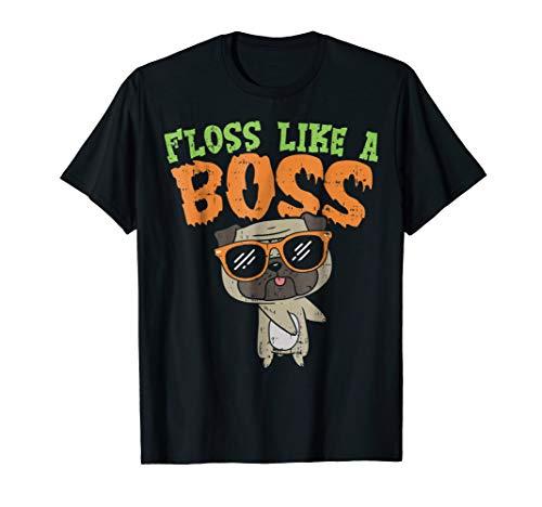 Floss Like A Boss Pug Shirt Halloween Costume Boys Girl Dog ()