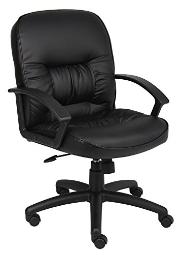 Boss Mid Back Leatherplus Chair Without Knee (Knee Tilt Chair)