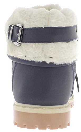 ChaussMoi Blu Scarpe Piene di 3cm con ramponi Suola e Tacco