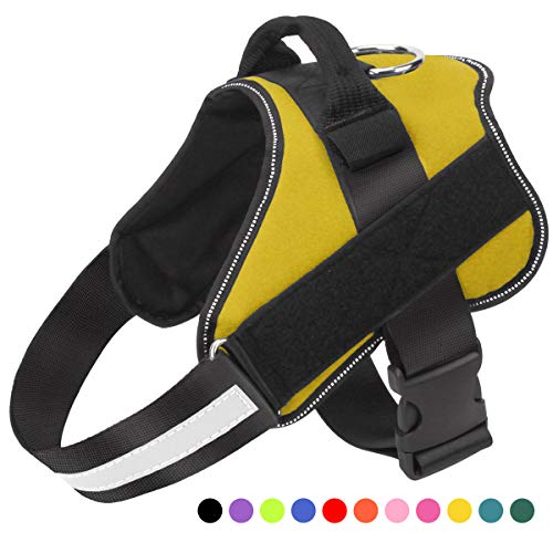 Bolux Dog Harness, No-Pull Reflective Breathable Adjustable Pet Vest with Handle for Outdoor Walking - No More Pulling, Tugging or Choking from Bolux