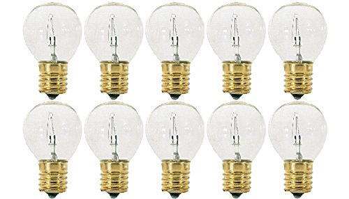 (Pack Of 10 40S11/N/C 40 Watt S11 E17 Intermediate Base Hi-Intensity Light Bulbs, Clear)