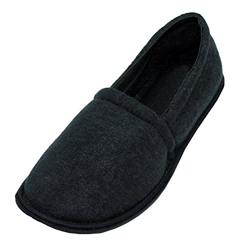 Cushioned Slippers Black Soft House Fidlansky Terry Closed Men's Back fzxq1S