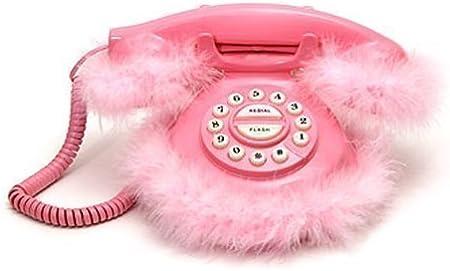 Schuhe mit hohen Abs/ätzen Form Desktop-Telefon Schnurgebundenes Telefon f/ür Home Office Hotel Dekoration Geburtstagsgeschenk Rosenrot Festnetztelefon