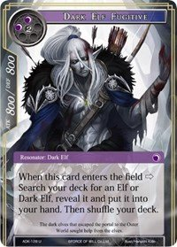 Dark Elf Fugitive - ADK-128 - U - Force of Will