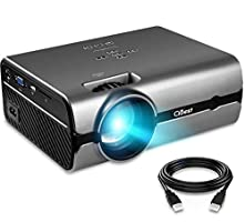 """Projector, CiBest Video Projector with 2500 Lux 170"""" Display Portable Mini LED Home Theater Entertainment Projector1080P Supported, Compatible with PS4, HDMI, VGA, TF, AV and USB"""