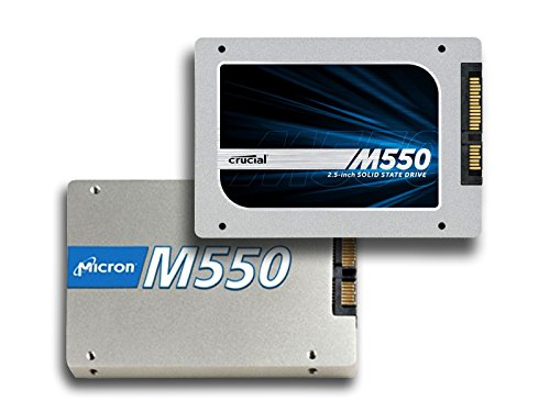 """Micron Crucial M550 1TB 2.5"""" (w/ 9.5mm adapter) SATA 6Gbps Solid State Drive (550MBps Read, 500MBps Write; up to 95,000/85,000 IOPS) [PN: CT1024M550SSD1] - Micron 1tb Ssd"""