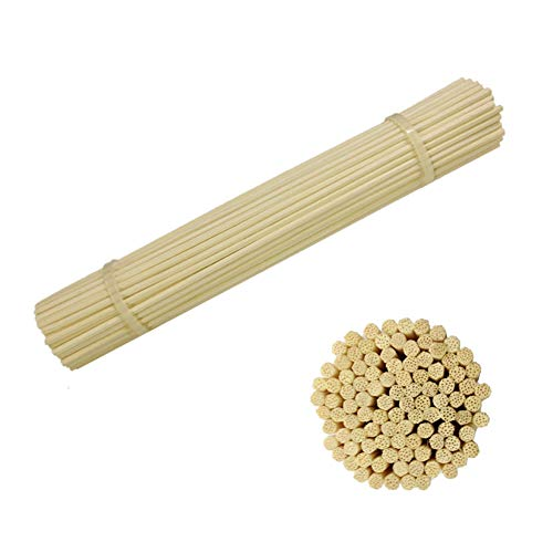 (AIWANT Reed Diffuser Sticks, 8 Inch (20CM) 100 Pieces Natural Aroma Reed Stick Refill)