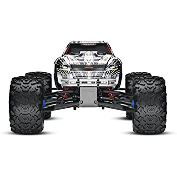 Traxxas T-Maxx 3.3: 1/10 Scale Nitro-Powered 4WD Monster Truck with TQi 2.4GHz Radio and TSM, White