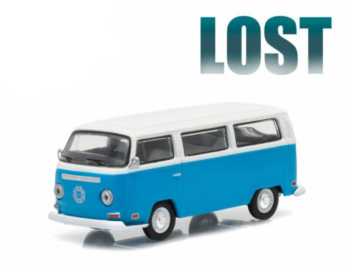 Greenlight 1971 Volkswagen Type 2 Bus (T2B) Darma Van from The Classic Television Show Lost GL Hollywood Series 12 2016 Collectibles Limited Edition 1:64 Scale Die Cast Vehicle