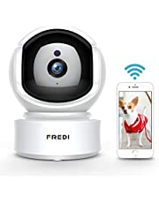 FREDI WiFi IP Camera, 1080P HD Wireless IP Camera Home Surveillance Security Camera, Cloud Service/IR NightVision/Motion Detection/Two-Way Audio/Pan/Tilt/zoom for Baby Monitor Nanny Pet Dog Camera