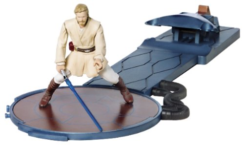 Star Wars, 2002 Saga Collection, Obi-Wan Kenobi Action Figure with Force Flipping Action, 3.75 Inches