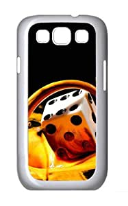 Samsung Galaxy S3 I9300 Case,Samsung Galaxy S3 I9300 Cases Milk Dice Polycarbonate Hard Case Back Cover for Samsung Galaxy S3 I9300 White
