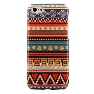 Aztec estilo rayas de colores PC caja trasera dura para el iPhone 5C