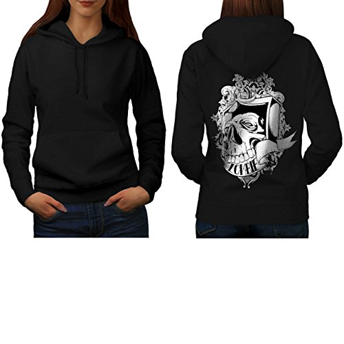 Zombie Skull Coffin Dead Rising Women NEW S Hoodie Back | Wellcoda (Voodoo Queen Costume)