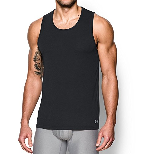 Under Armour Men's Core Tank Undershirt - 2-Pack, Black/Black, X-Large