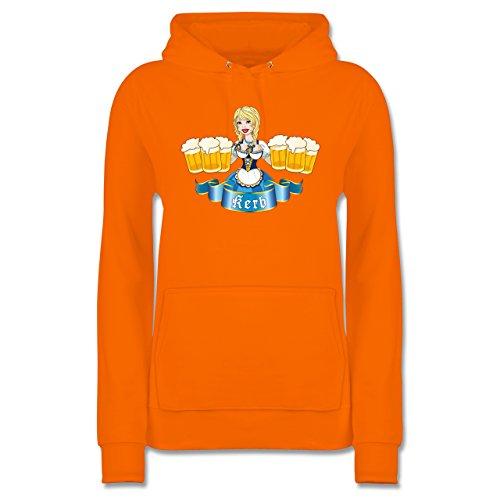 Shirtracer Oktoberfest Damen Kerb MADL Damen Hoodie Orange