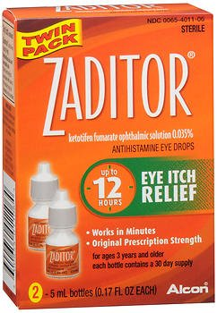 (Zaditor Antihistamine Eye Drops - 10 mL, Pack of)