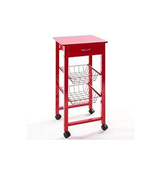 jja a carrito y mesa auxiliar para cocina en metal y madera