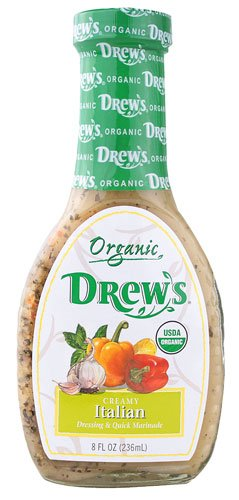 Drew's All Natural Organic Dressing Creamy Italian -- 8 fl oz - 2 pc (Drews Italian Dressing compare prices)