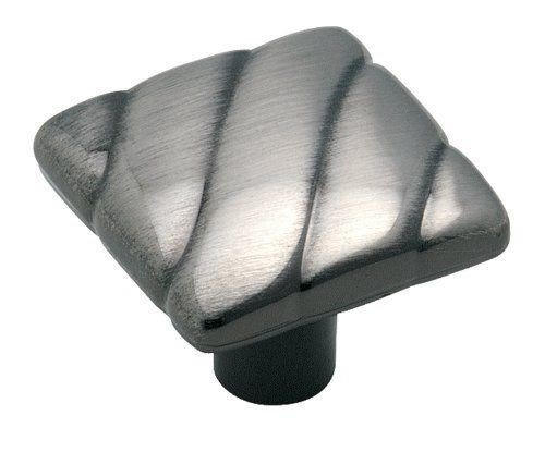 ChatAngle(TM) Amerock BP1825PWT Pewter Essentialz Handle Cabinet Square - Amerock Knob Essentialz