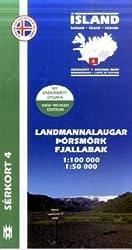 Island Serkort 04 Landmannalaugar - Porsmörk 1 : 100 000