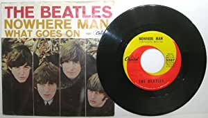 Nowhere Man / What Goes On with Picture Sleeve