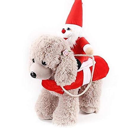 Smartrich Disfraz de Perro de Santa Navidad Ropa para Mascotas ...