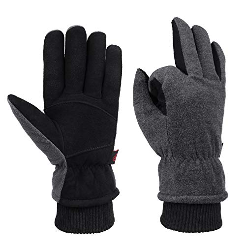 Winter Cold Weather Gloves Waterproof Genuine Deerskin Leather Cold Resistance -20℉ - Dress Deerskin