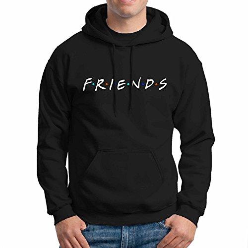 Friends Tv Show Unisex Hoodie Black Size M