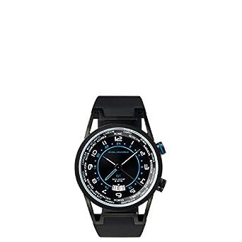 Orologio GMT Piquadro Wwwatch nero uomo in acciaio con datario - quadrante nero - impermeabile fino a 5 ATM OR1003WW-