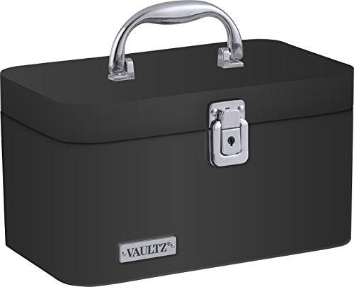 Vaultz Train Case, 6.5 x 10.13 x 5.75 Inches, Black (VZ03742)