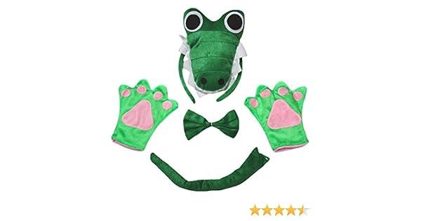 Petitebelle Guantes de cola de cocodrilo 3D diadema Bowtie niños ...