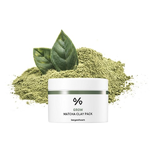Leegeehaam (LGH) Grow Matcha Clay Pack Mask, antioxidant rich green tea matcha mask revitalizes, purifies, and detoxifies with pore cleansing and tightening for youthful and hydrated skin / 3.88 oz