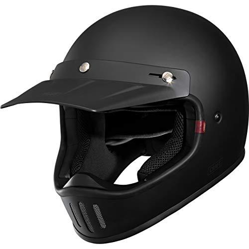 Craft Motocross Helm Motorradhelm Cross Helm Enduro Helm MX-Line 1.0 – Retro 3C Matt Black M, Unisex, Cross/Offroad…