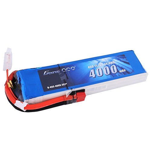 Gens ace 11.1V 4000mAh 3S 45C LiPo Battery Pack Deans Plug for Align Jet Esky Helicopter Walkera Airplane E-flite Huge Plane Draganflyer RC Helicopter Hobby Drone and FPV (Rc Jet Helicopter)