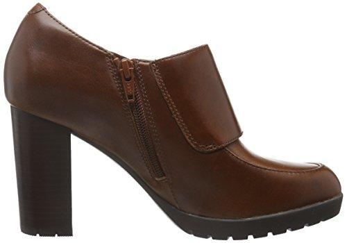 Clarks Elipsa Mae, Botines para Mujer Marrón (Dark Tan Leather)